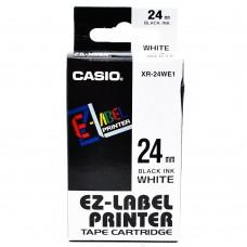 Casio 24mm Black on White Tape
