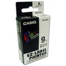Casio 9mm Black on White Tape