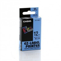 Casio 12mm Black on Blue Tape