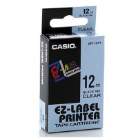 Casio 12mm Black on Clear Tape