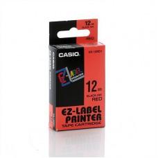 Casio 12mm Black on Red Tape
