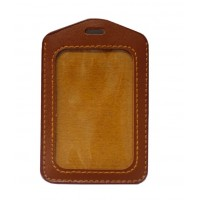Brown V ID Holder