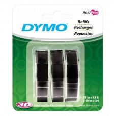 Dymo Black Embossing Tape Pack of 3