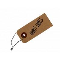 Black hang tag tie