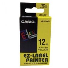Casio 12mm Black on Yellow Tape