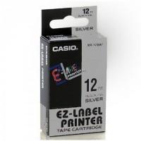 Casio 12mm Black on Silver Tape