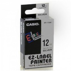 Casio 12mm Black on Silver Tape